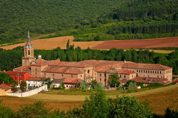 View of Yuso Monastery in La Rioja, Spain
